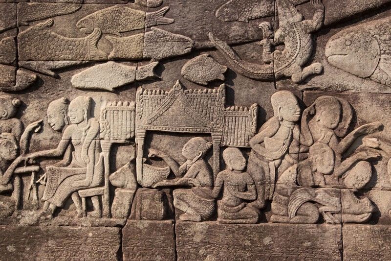 Angkor Thom wall relief