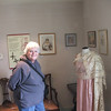 Pam in one of the rooms, It was a fascinating place to see and the period dresses were wonderful.