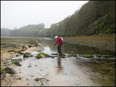 The occasional river crossing had to be made at low tide.