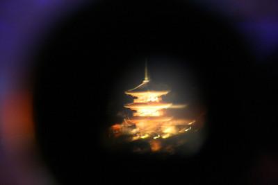 Kyoto through a telescope...
