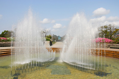 The wings of peace fountain...