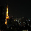 View from my hotel room on the 27th floor of the Intercontinental Tokyo