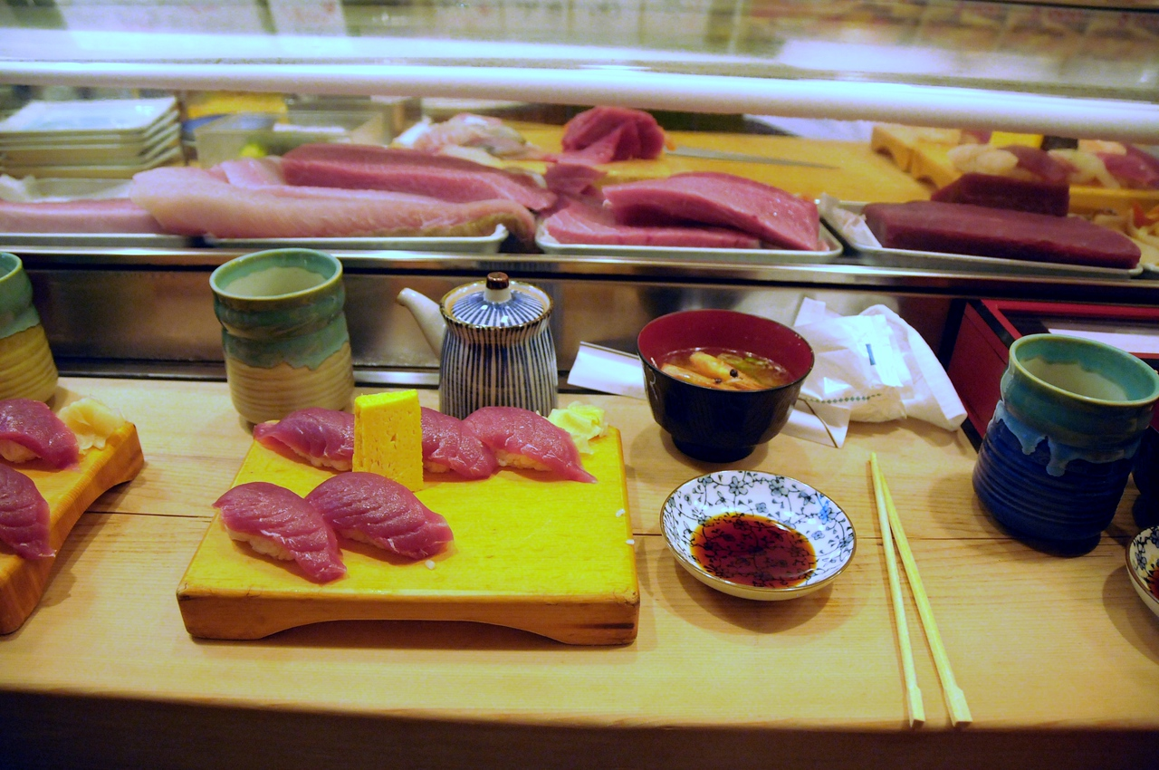 Suishi fresh from the fish market