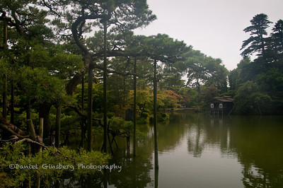 A lake in Kenrokuen Garden, considered one of the three great gardens in Japan.