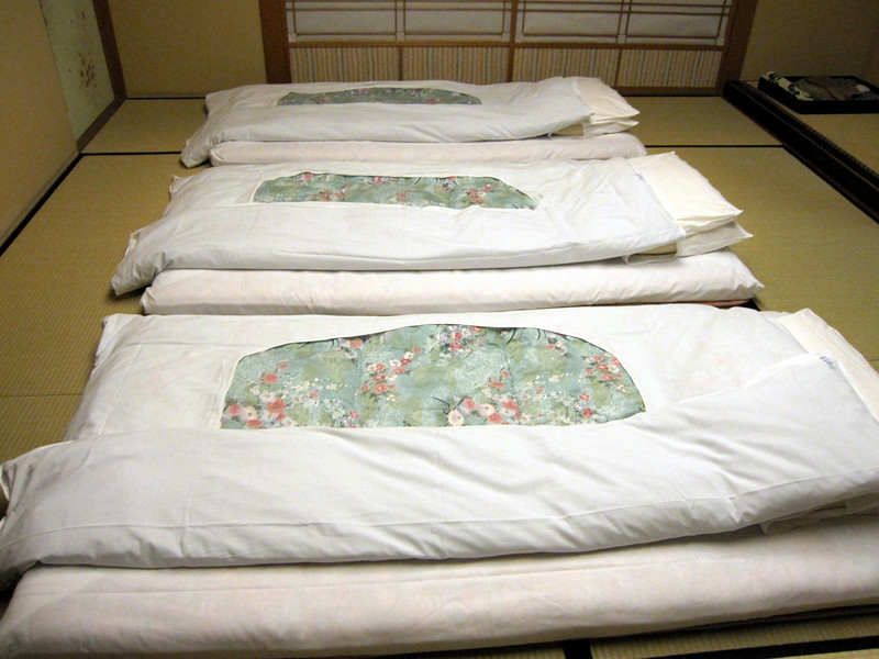 Takayama - Ryokan Futon beds