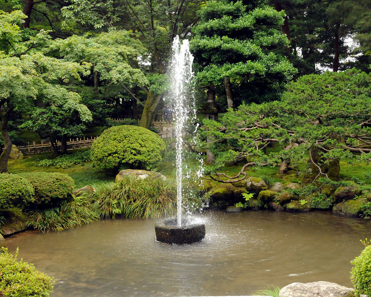 Oldest fountain in Japan built n 1861 driven strictly by gravity.