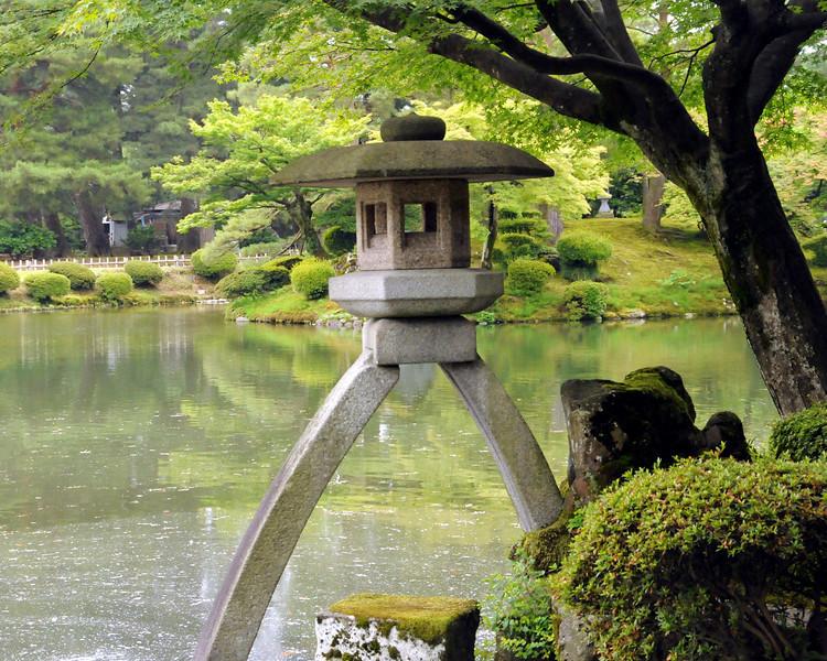 Kanazawa - Kotoji stone lantern in Kenroku-en garden