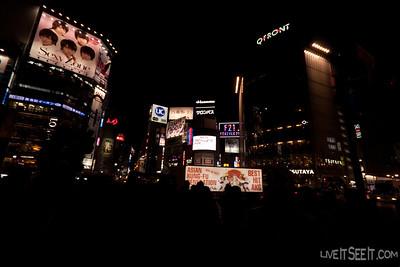 An evening in Shibuya