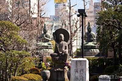 Gardens outside Sensoji Temple in Asakusa