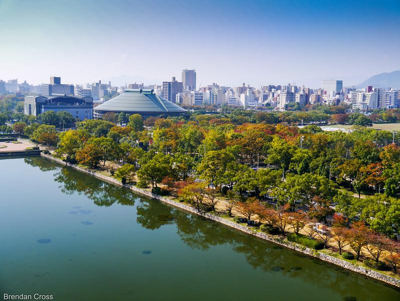 View from Hiroshima-Jo