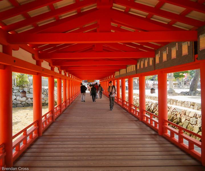 Walking Down the Hallways of the Itsukushima Shrine