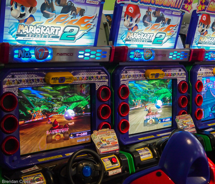 Mario Kart in an Arcade in Dotonbori