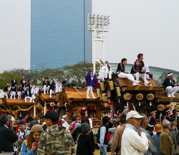 Celebration Outside Osaka-jo