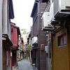 Alley to Kikonoya Machiya (tea house), our lodging in Kanazawa