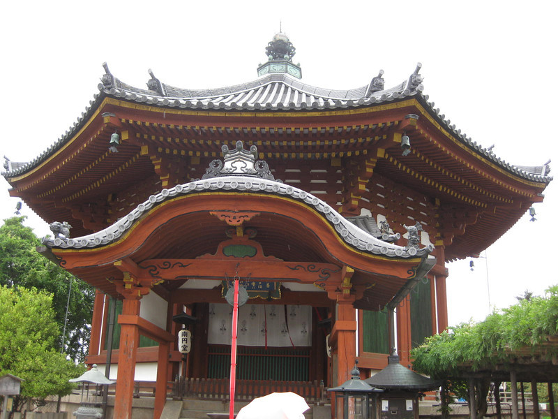 Day 3: Nara - another of the many structures at Kōfuku-ji is Nan'en-dō, a rather unusual (for its age) octagonal shrine.