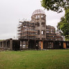 Day 4: Hiroshima - notice the scaffolding here on the Atomic Bomb Dome. The government is currently trying to determine the building's ability to withstand an earthquake, so they are conducting some tests. Scaffolding was to be a common sight; not just this day, but over the course of the trip.