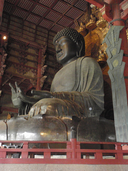 Day 3: Nara - just like Buddha, the Great Hall has needed to be replaced over the years. The current building dates from 1709.