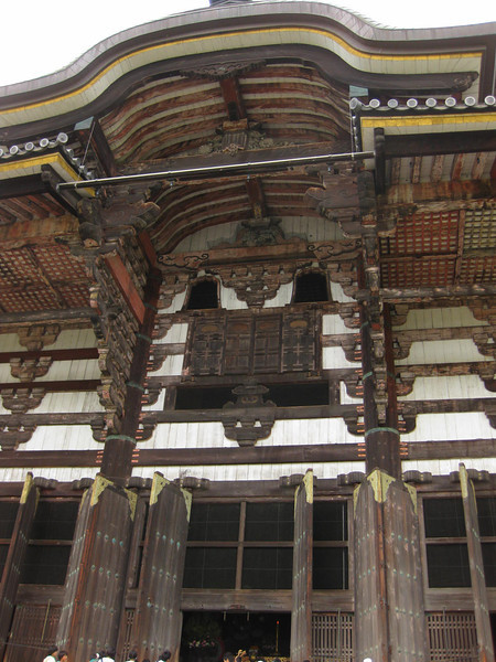 Day 3: Nara - just to give you a sense for the scale of the shrine at Tōdai-ji, here's the door, with people at the bottom. It's much larger than the pictures let on.