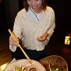 Preparing vegatables at Beniya Mukayu, Yamashiro Onsen