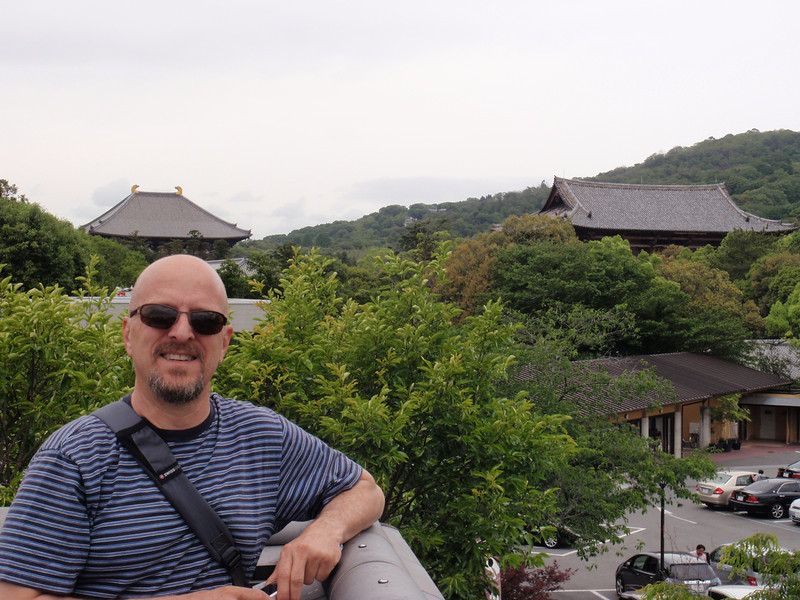 Day 3: Nara - Brian posing in front of our next site, Todai temple (Tōdai-ji).
