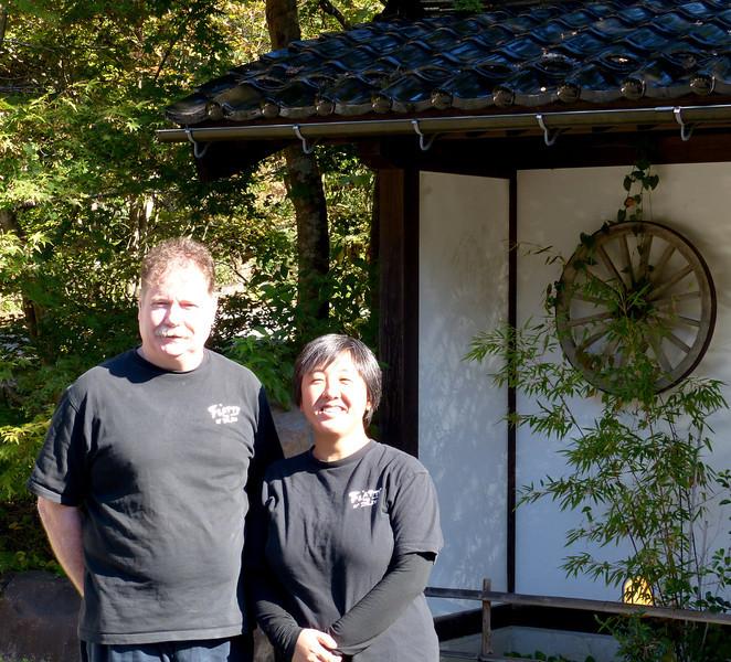 Ben and Chikako, owners of Flatt's-by-the-Sea on the Noto Peninsula