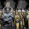 Day 3: Kyoto - standing in front of the 1001 Kannon are 28 guardians, each of which is a Buddhist god.<br /> <br /> Just a few facts because we can't resist:<br /> - Sanjūsangen-dō was originally constructed in 1164, suffered a fire in 1249, and was rebuilt in 1266.<br /> - 124 of these statues are original. The rest were destroyed in the fire and were recreated as part of the 1266 reconstruction.<br /> - The statues are made of wood from cypress trees.