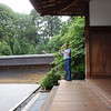 Day 5: Kyoto - there is a veranda built just for sitting and contemplating the meaning of the rocks in the garden. We were able to enjoy a few minutes of relative Zen-like peacefulness here before the first busloads of students started to arrive. From that point on, we were surrounded, everywhere we went.