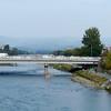 Kamo River and Sanjo Street bridge, Kyoto