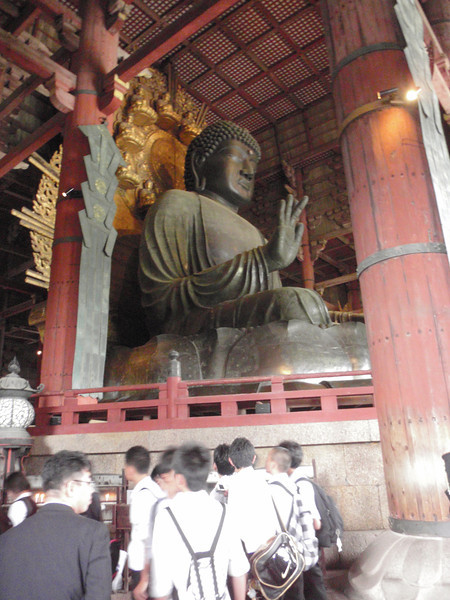 Day 3: Nara - Buddha sits over 52 feet high, and was cast in pieces between 745 and 751. The effort nearly bankrupted the country.