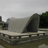 Day 4: Hiroshima - this is the primary memorial to ALL the victims of the bomb (estimated to be between 90,000 and 160,000). It's a Cenotaph (memorial stone) sheltered by a large concrete arch. The arch is intended to represent shelter for the victims. It sure looked like a covered wagon to our American eyes. The building at the left with the vertical windows is the Hiroshima Peace Memorial Museum, which details what Hiroshima was like before the attack, the devastation the attack caused, and the efforts by the city ever since to promote peace.