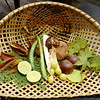 Veggies ready to be prepared for dinner at Beniya Mukayu, Yamashiro Onsen