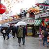 Rainy weather on Nakamise Dori (bazaar street), Asakusa, Tokyo