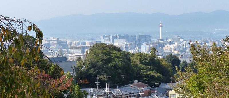 Kyoto, from Kyomizu-Dera (Buddhist temple)