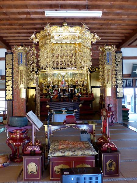 Alter hall, Myojo-ji (temple), Noto Peninsula