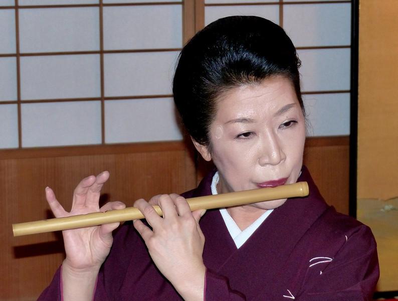 Flute solo during geisa performance, Kikunoya, Kanazawa