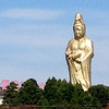 View of Buddha from Kaga train station near Beniya Mukayu, Yamashiro Onsen