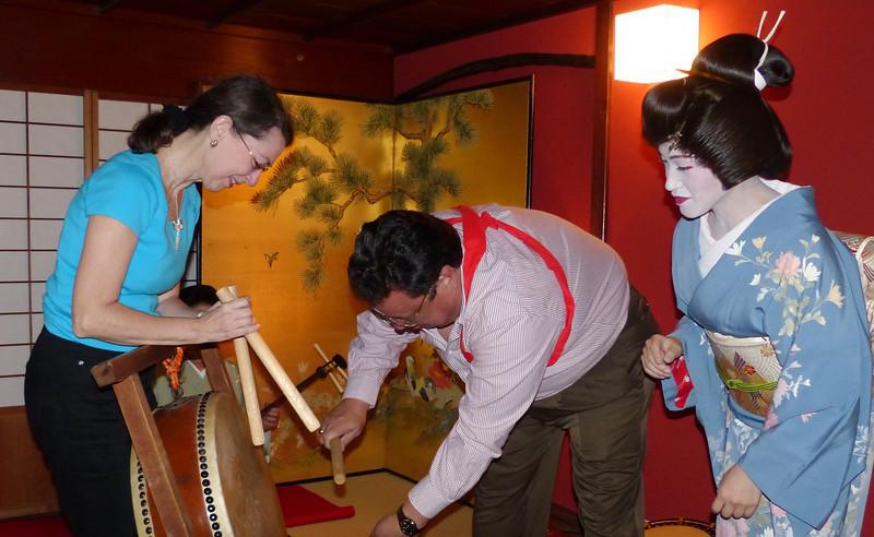 Geisa with Jeane and Peter, Kikunoya, Kanazawa
