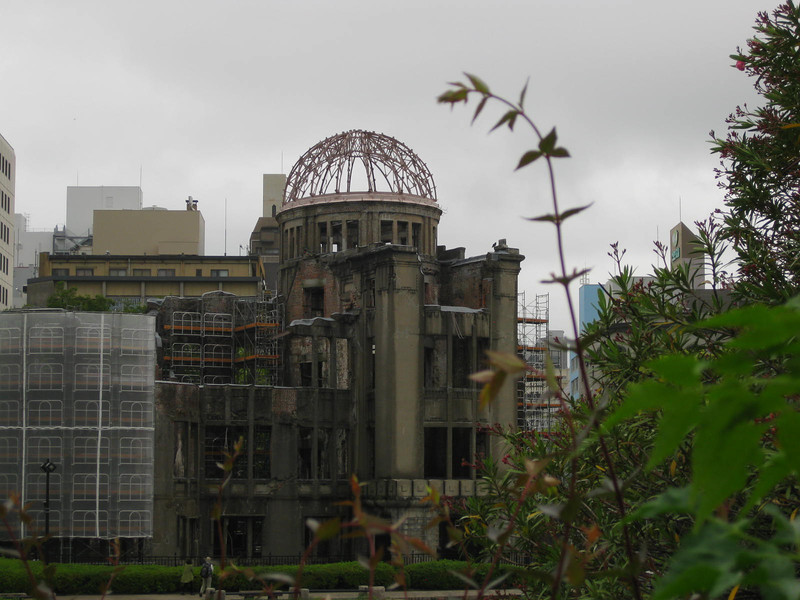 Day 4: Hiroshima - and where was Timmy's first-ever Shinkansen ride taking us? Down the coast to Hiroshima. Here is the image we (and most people, we imagine) associate with Hiroshima: the Atomic Bomb Dome, one of the few buildings to survive the world's first atomic attack (June 6, 1945 at 8:15 AM).