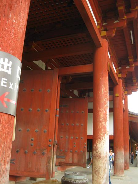 Day 3: Nara - the portal doors at Tōdai-ji
