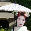 """Tourist """"geisha"""" posing, Kyoto"""