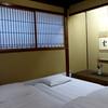 Futons in tea room, Kikunoya, Kanazawa