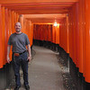 Day 3: Kyoto - Brian never came to Fushimi-Inari while he was in Kyoto on his mission.  So here he is enjoying it for the first (but not the last) time.
