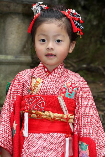 Young girl, Kasuga Taisha Shrine, Nara