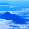 Mt. Fuji from the air on our flight from Osaka to Tokyo