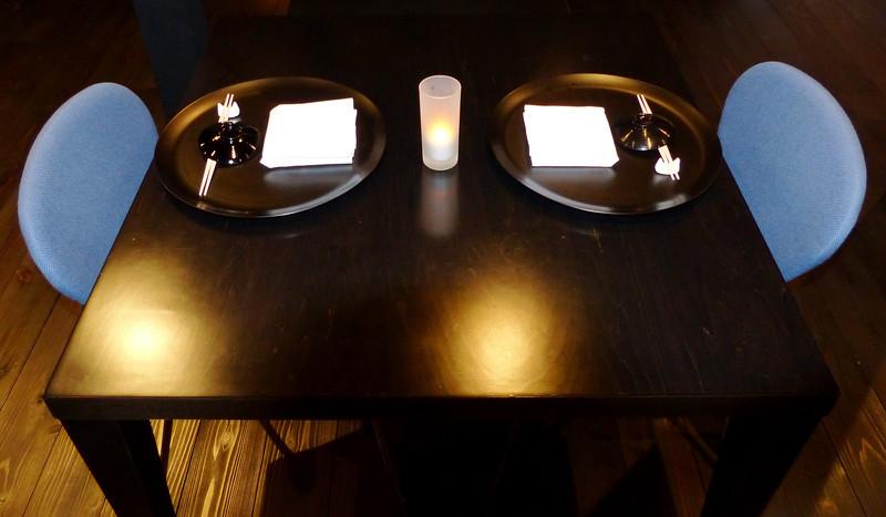 Dinner table at Beniya Mukayu, Yamashiro Onsen