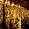 Day 3 : Kyoto - here we are. Exactly 1001 statues of Kannon (the Goddess of Mercy), filling the entire hall from end to end. Now, photography is not permitted inside the great hall. So this picture (and the next one) are taken from the internet. We stared at these statues for quite a while, and decided that each appears to be slightly different from the rest.