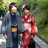 Wedding couple at Kiyomizu-Dera, Kyoto