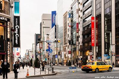 Ginza main street closed to cars on Sundays