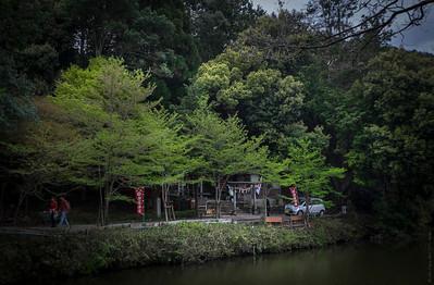 Mini Shrines Around The Katsugawa River in Arashiyama, Kyoto