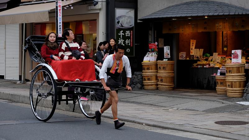 The Running Rickshaw Rider...